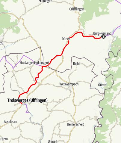Karte / Vennbahn-Etappe 6 - Burg-Reuland - Troisvierges