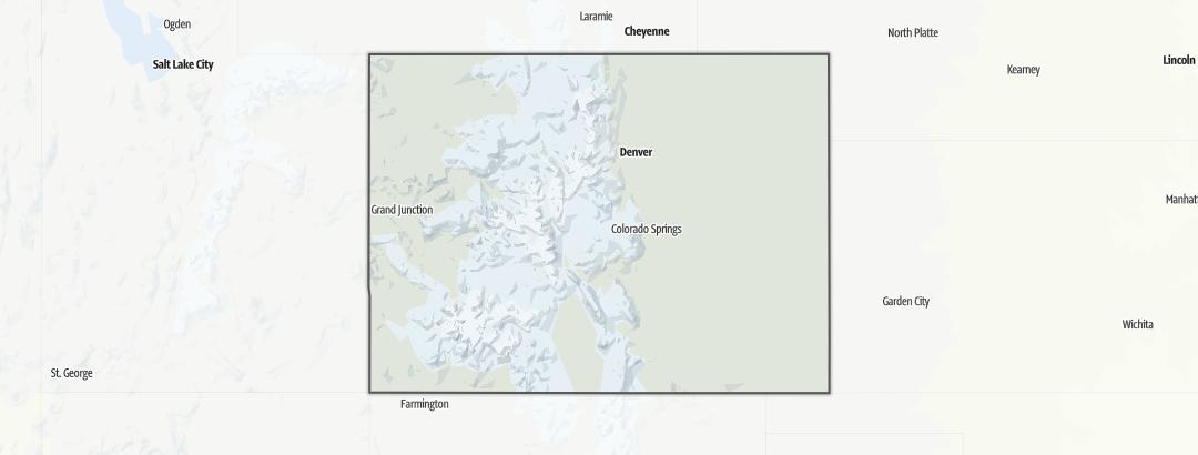Kart / Fotturer i Colorado