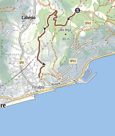 Karte / Downhill nach Finalpia