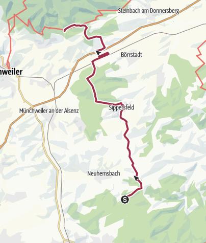 Karte / Enkenbach-Alsenborn Trekking - Von Platz Nr. 8 Enkenbach-Alsenborn zum Platz Nr. 10 Imsbach