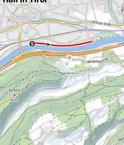 Karte / Tempolaufstrecke
