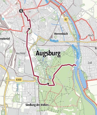 Karte Augsburg.Wasserleben In Augsburg Wanderung Outdooractive Com