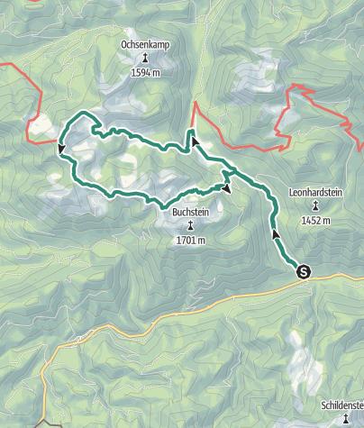 Karte / Seekarkreuz - Rundtour im Schatten von Roß- und Buchstein
