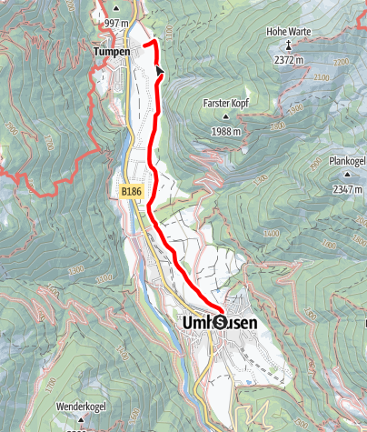 Map / Hike Tumpen - Umhausen-Niederthai
