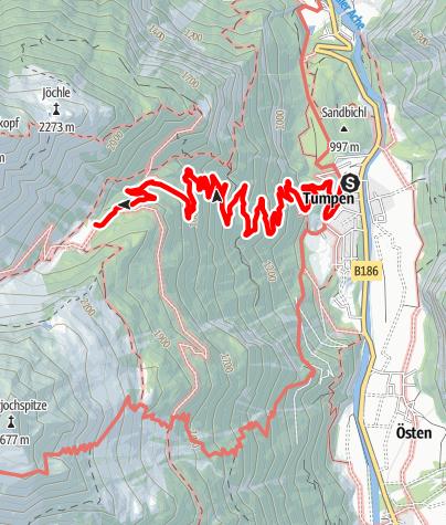 Map / Vordere Tumpen Alm