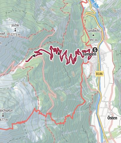 Map / Vordere Tumpenalm - Umhausen-Niederthai