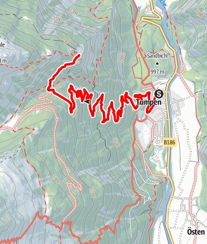 Karte / Tumpen - Armelenhütte