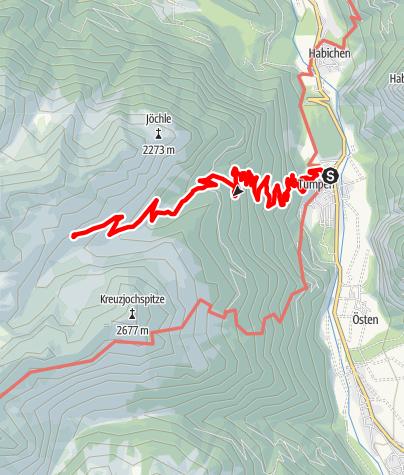 Karte / Hintere Tumpenalm - Umhausen-Niederthai