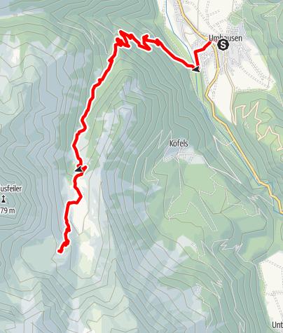 Karte / Frischmannhütte - Umhausen-Niederthai