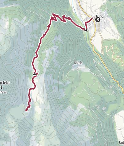 Map / Frischmannhut - Umhausen-Niederthai