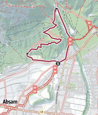Map / Die Runstboden Runde im Halltal