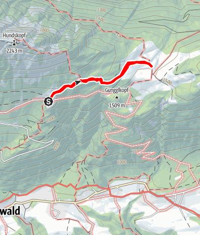 Karte / Panoramaweg Hinterhornalm - Walderalm
