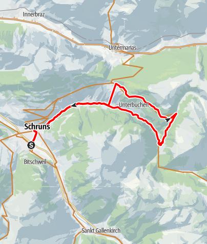 Karte / Bergknappen Tour Kristberg