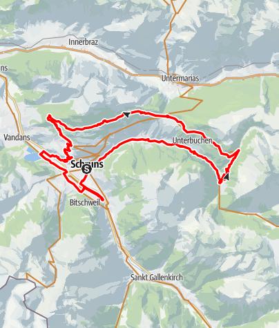 Karte / M1 - sportlich Montafon Mountainbike Marathon // Teilstrecken nur am Renntag befahrbar!