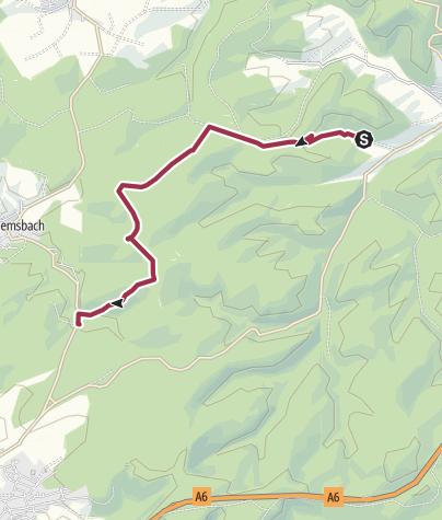 Karte / Ramsen Trekking - Von Platz Nr. 9 Ramsen zum Platz 8 Enkenbach - via Sippersfelder Weiher