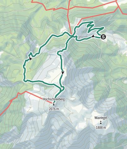 Karte / Schneeberg (2076m) klassisch von Losenheim über den Fadensteig