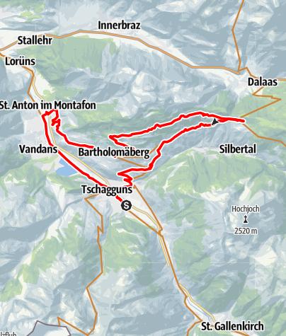 Karte / Panoramatour Bartholomäberg - Kristberg