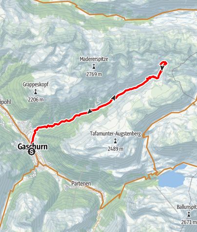 Karte / Valschavieltal Tour