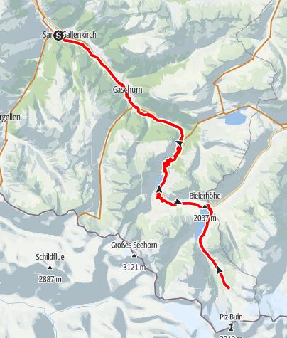 Karte / Gletscher Tour