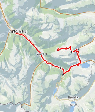 Karte / Alp Tour Verbella - Gibau