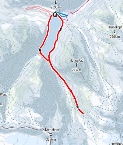 Karte / Von der Silvretta-Bielerhöhe zur Wiesbadener Hütte