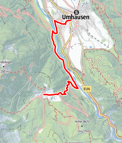 Map / Hike Köfels - Umhausen-Niederthai