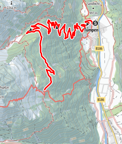 Map / Gehsteigalm - Umhausen-Niederthai