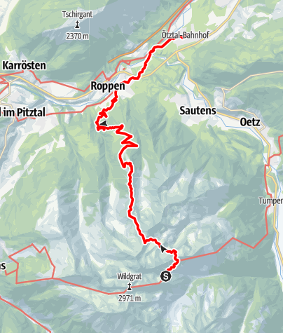 Map / Ötztal Trek Stage 22