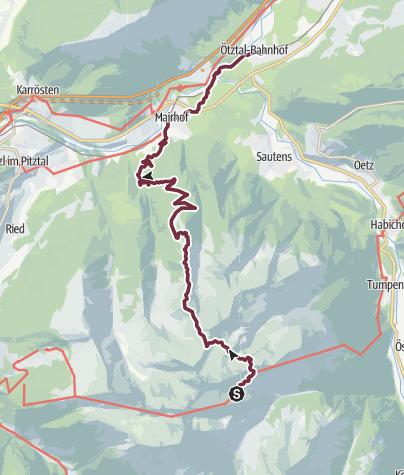 Map / Ötztal Trek Stage 22