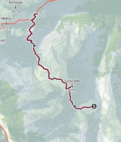 Karte / Ötztal Trek Etappe 21