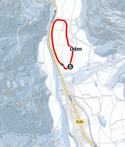 Karte / Loipe Tumpen - Lehn-Platzl