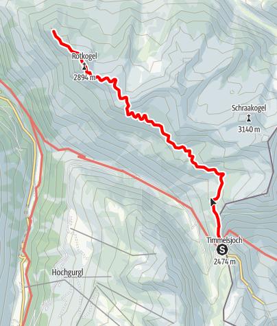Karte / Timmelsjoch - Brunnenkoglhaus