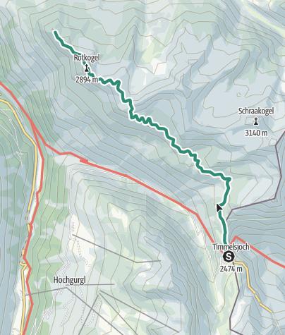 Map / Timmelsjoch - Brunnenkogelhaus