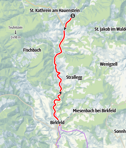 Karte / Feistritztalradweg R8