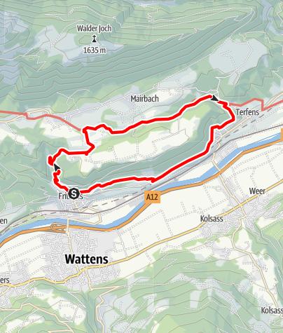 Karte / Zum Heilwasser der Maria Larch Kapelle