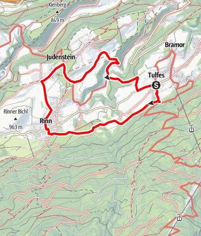 Karte / Tulferer Lavieren