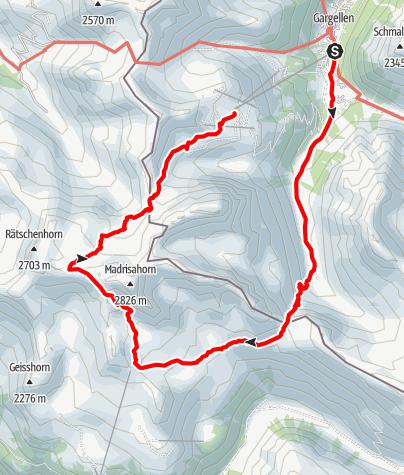 Karte / Madrisa Rundtour (zweitägig) - Auf den Spuren der Schmuggler