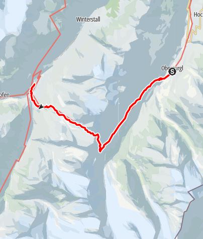 Map / Obergurgl - Ramoljoch - Vent