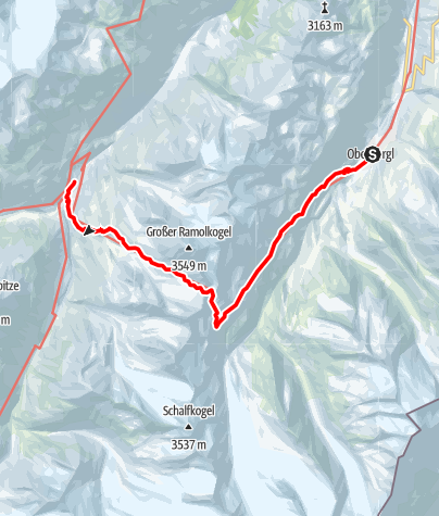 Karte / Obergurgl - Ramoljoch - Vent