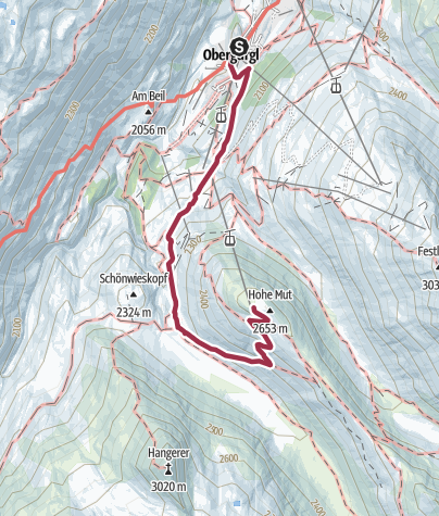 Map / Hohe Mut Alm