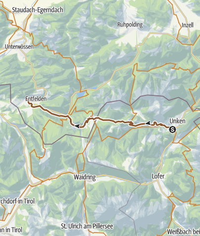 Map / Watzmann-Hochkönig North-Loop: Stage 2: Unken – Reit im Winkl