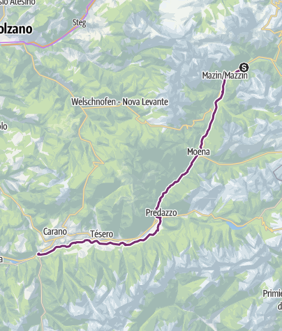 Map / Val di Fiemme bike path