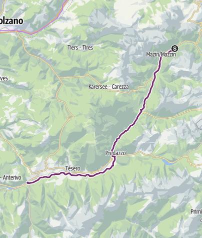 Map / Val di Fiemme bike path