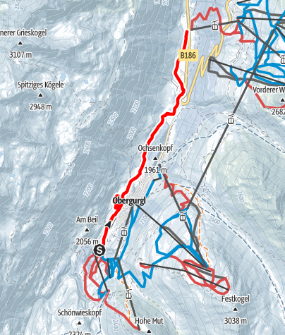 Map / Winterhiking Obergurgl