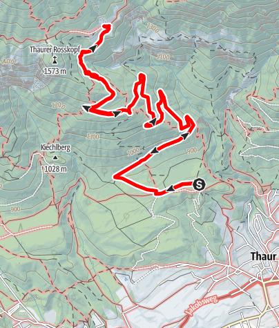 Karte / Vom Schlosshof auf die Thaurer Alm