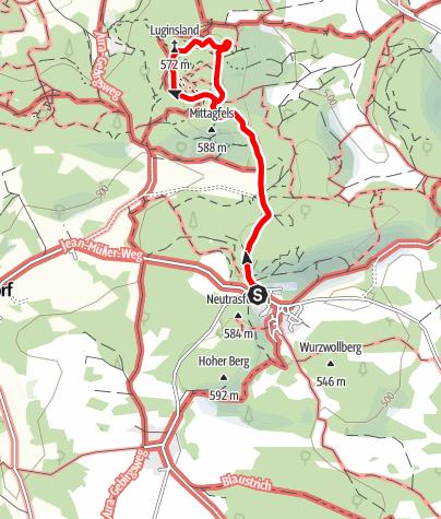 Karte / Höhenglücksteig