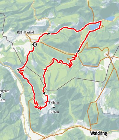 Karte / Panoramareiche MTB-Tour zum Straubinger Haus