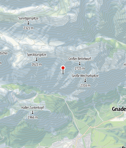 Karte / Bettelwurfhütte