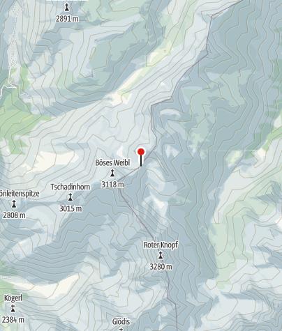 Karte / Gernot-Röhr-Biwak