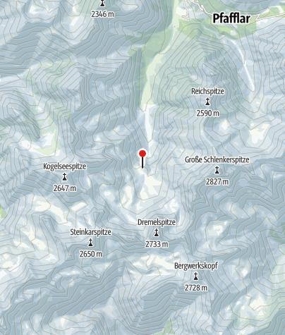 Karte / Hanauer Hütte